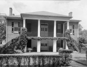 Black and white photo of the Gorgas House.