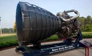 Photo of a space shuttle engine