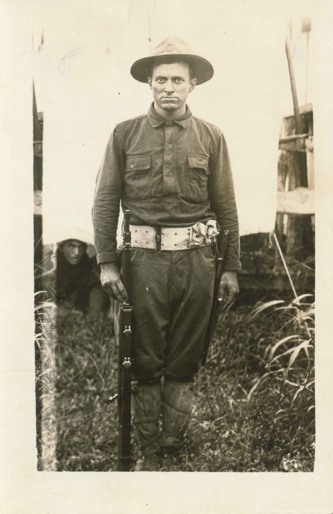 This image shows Pvt. Clarence Lee Culver in his World War I uniform.