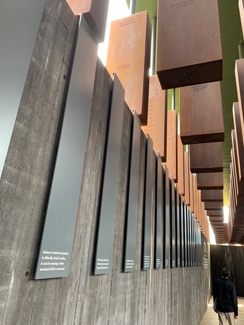panels from the national lynching memorial