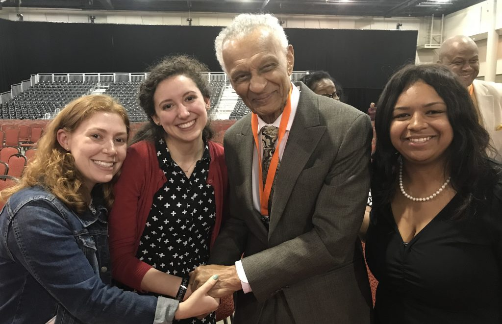 Summersell students meet with Reverend C.T. Vivian, a leader of the Birmingham Civil Rights Movement