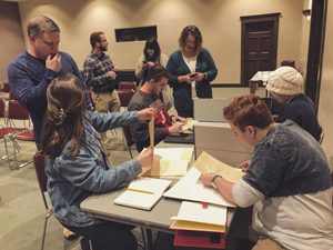 Summersell students explore archival collection at Birmingham Public library.