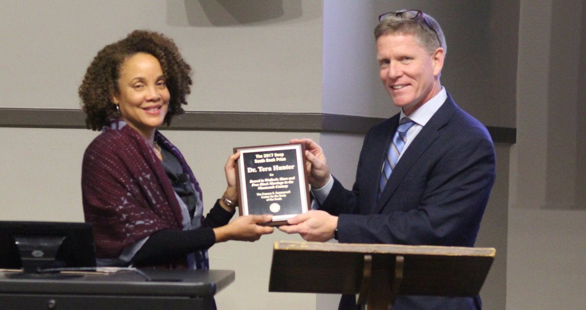 Dr. Tera Hunter Visits Campus for Summersell Book Prize
